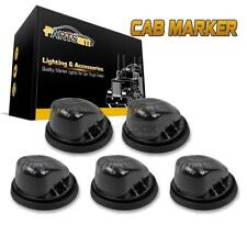 5)Roof Cab Marker Light Smoke Lens/Cover+5xBlack Base for 73-87 Chevy C/K Pickup