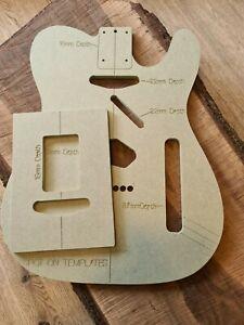 Telecaster Guitar Body and neck pocket Template 9mm MR MDF