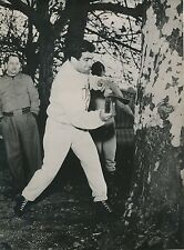 Duilio Loi 1955 - Boxeur Entrainement Insolite Comerio Italie - PR 791
