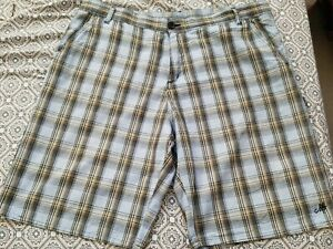 Blue and Light Brown Plaid Shorts Size 40