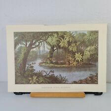 Currier and Ives Print Southern River Scenery Travelers Insurance Feb 1978 11x16