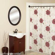 Martika Anthology Fabric Shower Curtain Floral Burgundy