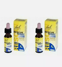 Bach Rescue Night Remedy Drops - 10ml X 2. For Natural Deep Sleep. New