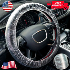 US STOCK 500pcs Car Steering Wheel Cover For Disposable Plastic Covers Universal