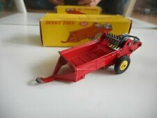 Dinky Toys Massey Harris Manure Spreader in Red in Box (DT 321)