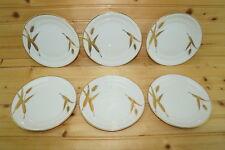 "Meito Midas White (6) Bread & Butter Plates, 6 3/8"""