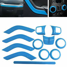 Light Blue Interior Accessories Trims For Jeep Wrangler JK JKU 2011-2017 4-door