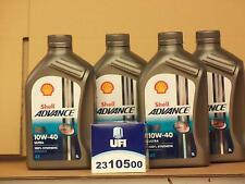 Shell Advance Ultra 4T 10W-40 / UFI Ölfilter Ducati 800 848 851 888 alle Modelle
