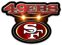 San Francisco 49ers logo Type Magnet:          49ers NFL Football