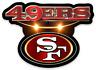 San Francisco 49ers logo Type Magnet:          49ers NFL Football MAGNET