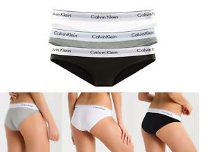 Calvin Klein Damen Bikinislip 3er Pack Unterwäsche Slips Frauen Unterhosen