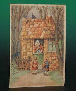 uralter Adventskalender * Hänsel & Gretel * Erika Nr. 3