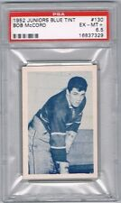 1952 Juniors Blue Tint Hockey Card Montreal #130 Bob McCord Graded PSA 6.5