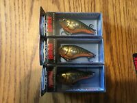 RAPALA  CLACKIN CRANK 53s----lot of 5 DIFFERENT COLORED FISHING LURES-CNC53