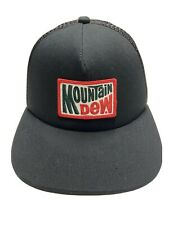 Mountain Dew Snapback Trucker Hat Cap Black by Matix Adjustable RARE