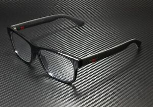 GUCCI GG0176Oa 001 Rectangular Square Black Demo Lens 56 mm Men's Eyeglasses