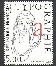 France 1986 Typography/Printing/Woman/Art/Design/Animation 1v (n37108)