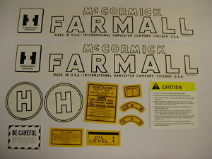 IHC International Farmall Model H Tractor Decal Set -  Mylar - NEW FREE SHIPPING