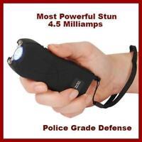 Black Police RUNT 49 MV stun gun LED Disable Pin 4.5 Milliamperes