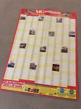 MG ENTHUSIST 1988 YEAR PLANNER / POSTER 12 MG PICTURES