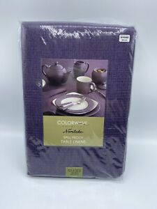 NORITAKE Colorwave Collection Plum Spill Proof Table Linen 60 in x 102 in New