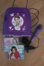 Cantatu canta tu bimba karaoke microfono e 2 cd Disney Violetta ottimo stato