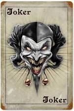 Lethal Threat Evil Joker Card Poker Metal Sign Man Cave Shop Garage Club LETH057