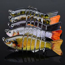 10cm 3d Eyes Fishing Lures Swimbait Baits Tackle Minnow Multi Jointed Fish Lure