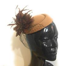 Fascinator Hat Pillbox Flower Veil Hatinator UK Wedding Ascot Races Clip  Felt 8c5043bf8bb