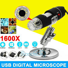 8led 1600x 3 In 1 Usb Digital Microscope Endoscope Magnifier Camera Stand