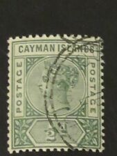 Cayman Islands QV 1/2d (S.G.1). Used (CTO). Superb, with full gum. Rare!!