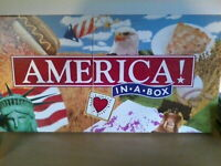 AMERICA IN A BOX: MONOPOLY TYPE GAME: 100% COMPLETE