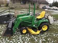 "JOHN DEERE 445 W 40  LOADER AND 60"" MOWER DECK 3 POINT AND REAR PTO"