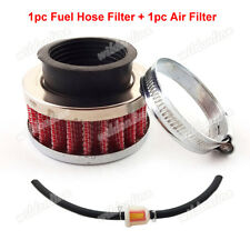 Red 42mm Air Filter Fuel Hose For 47cc 49cc Pocket Bike Mini Dirt ATV Go Kart