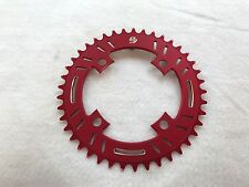 Snap BMX Products S4 104mm 4 bolt Chainring - 41t Red