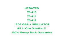 Microsoft MCSA 70-410,70-411,70-412 Test PDF & Sim