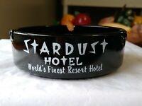 Stardust Ashtray World's Finest Resort Hotel Las Vegas Black w/White Vintage