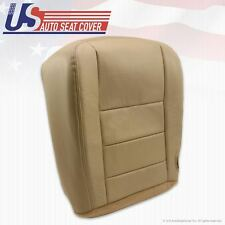 2002-2007 Ford F250 F350 Lariat 4x4 diesel Driver Bottom Leather Seat Cover TAN