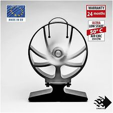 HANSA SIROCCO Heat Powered STOVE FAN (Black, Unique Design, Patented)