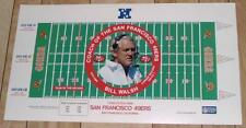 "Bill Walsh San Francisco 49ers 30"" BY 16.5"" NFL Lithograph - FREE SHIPPING"