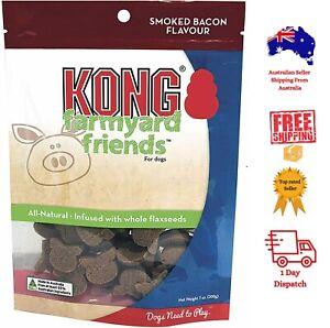 KONG Farmyard Friends All Natural Dog Treats BACON, LAMB, CHICKEN Flavor 200g