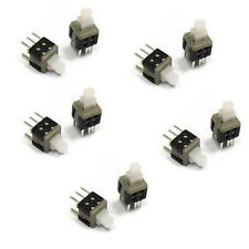 10pcs 6Pin Latching Push Button Tact Tactile Switch 5.8 x 5.8mm s775-1
