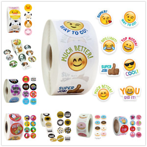 500* Thank You Stickers For Business School Teachers Cartoon Rewards Seal Labels
