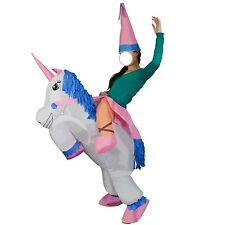 Inflatable Riding Unicorn Costume - Party Cowboy Horse Cowgirl Halloween Pony