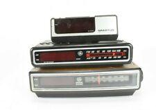Vtg Bundle 2 General Electric Digital Clock Radios/1 Spartus Digital Alarm Clock