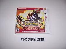 Original Box Case replacement for Nintendo 3DS Pokemon Omega Ruby *NO GAME*