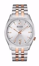 Bulova Men's 98B220 Accutron II Quartz Rose and Silver Tone Dress Watch