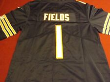 Chicago Bears Justin Fields Navy Blue Home Jersey Size L