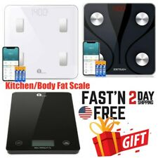 Smart Body Bathroom Weight Scale BMI Digital Bluetooth Fitness /Kitchen Scale US