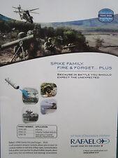 3/2008 PUB RAFAEL ISRAEL DEFENSE FORCES SPIKE FAMILY FIRE & FORGET ORIGINAL AD